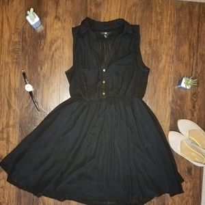 H&M Black Collared Dress